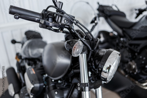 details of motorcycle, Motorbike into deep, Poster
