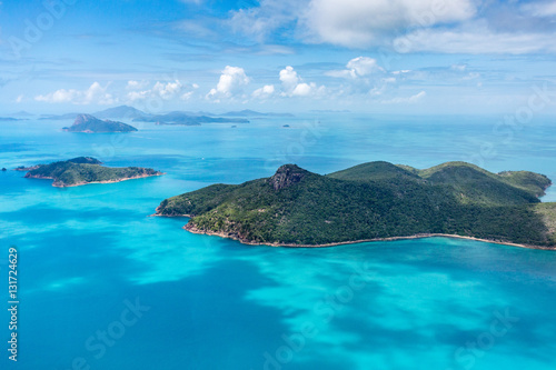 Papiers peints Bleu Whitsundays from above, Queensland, Australia