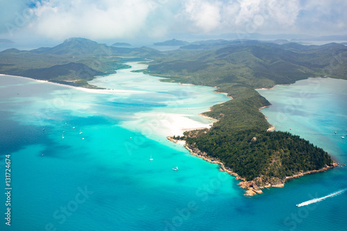 Whitsundays from above, Queensland, Australia Canvas Print