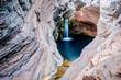 canvas print picture - Hamersley Gorge, Spa Pool, Karijini, Australia