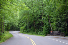 Smoky Mountains National Park Entrance At Gatlinburg
