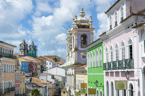 Photo  Pelourinho Salvador da Bahia Brazil historic colonial church architecture of the