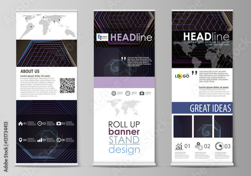 roll up banner stands corporate vertical vector flyers flag