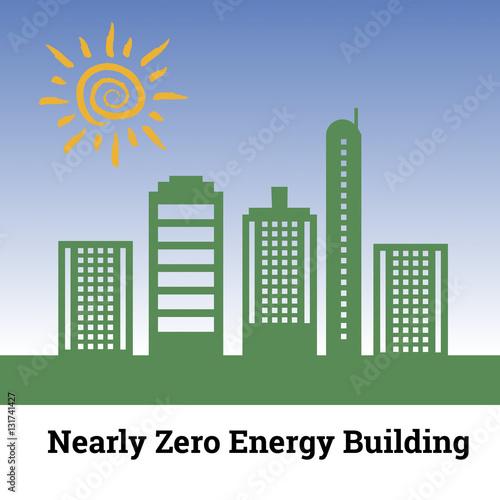 Fotografie, Obraz  Nearly Zero Energy Building