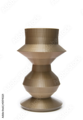 Stampa su Tela  Brown Vase Shaped Object Printed With 3D Printer
