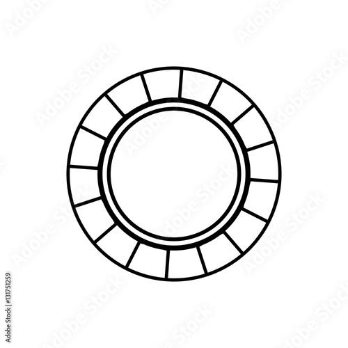 In de dag Boho Stijl Casino chip concept icon vector illustration graphic design