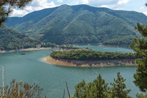 Spoed Foto op Canvas Canada Meander of Vacha (Antonivanovtsy) Reservoir, Rhodopes Mountain, Bulgaria