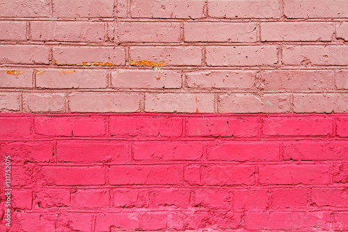 Poster Graffiti Pink brick wall as background, texture
