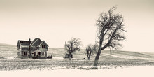Old Abandoned Farm House Near Dufur, Oregon