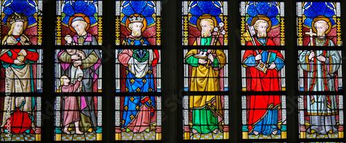 Obraz Stained Glass - Catholic Saints - fototapety do salonu