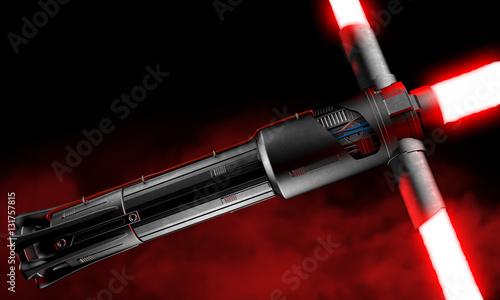 3d rendering of a laser sword Canvas Print