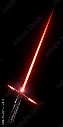 Photo  3d rendering of a laser sword