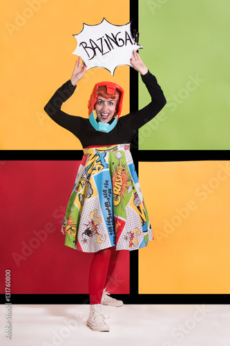 Pop art fashion girl Wallpaper Mural