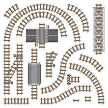 Vector Illustration Of Railway...