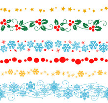 Vector Set Of Decorative Seaml...