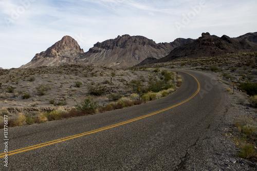 Route 66 Empty desert road - Route 66