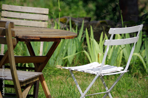 table de jardin - Buy this stock photo and explore similar images at ...