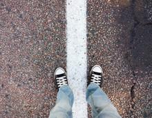 Feet On The Asphalt.