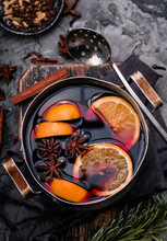 Mulled Wine With Orange, Spice...