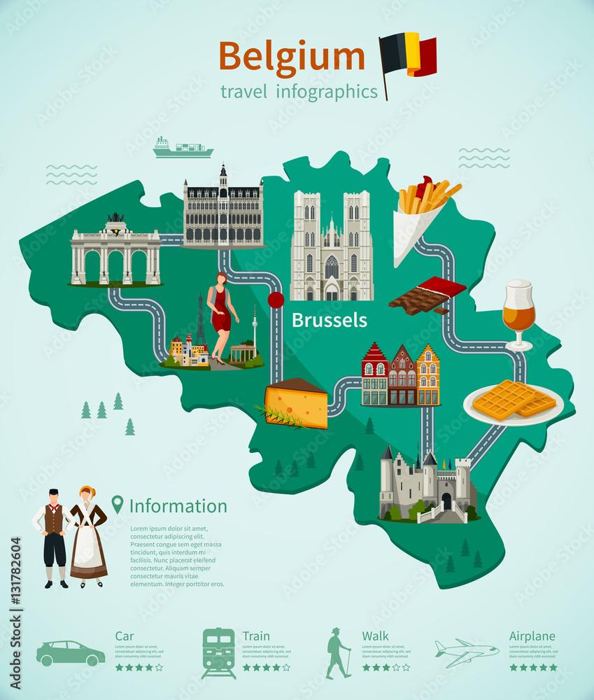 Photo  Belgium Travel Infographics