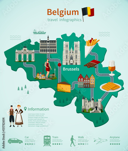 Photo  Belgium Travel Infographics