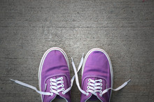 Top View Of A Pair Of Purple S...