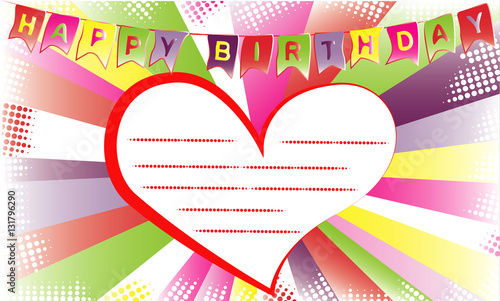Happy birthday invitation or congratulation card template happy birthday invitation or congratulation card template typographic design on retro pop art style background stopboris Images