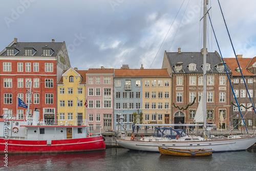 Copenhagen Nyhavn Waterfront Canvas Print