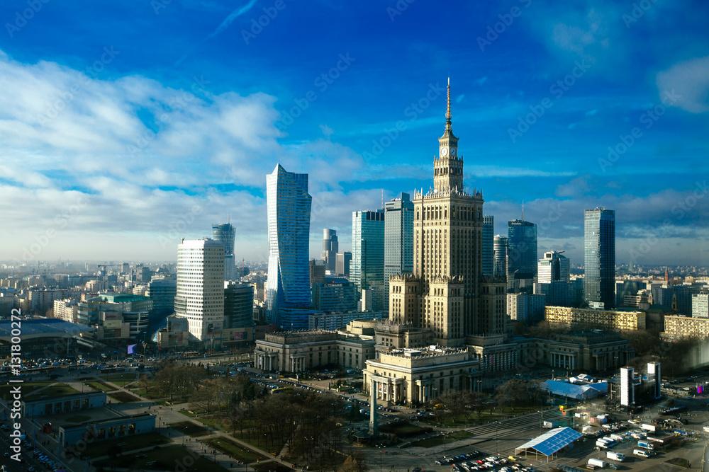 Fototapety, obrazy: Warsaw skyline