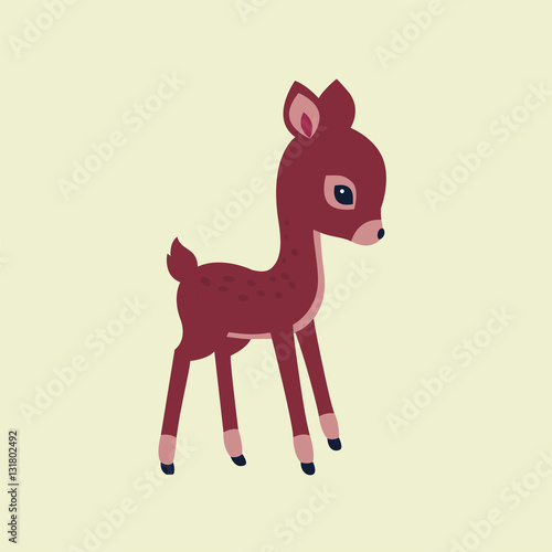 Image cute fawn on a light background Wallpaper Mural