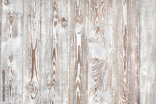 Fotografie, Obraz  white old wooden fence