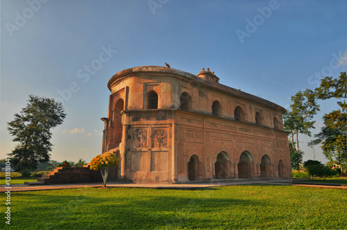 The Rang Ghar -  the royal sports-pavilion for Ahom kings in Assam in India Canvas Print