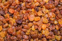 Golden Raisins Background, Texture