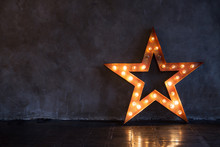 Decorative Star With Lamps On ...