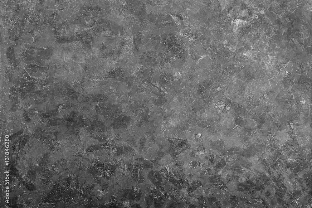 Fototapety, obrazy: Dark grunge textured cement wall closeup