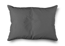 Close Up Of A Gray Pillow On White Background