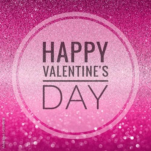 Happy Valentine S Day Words On Shiny Glitter Background Buy This