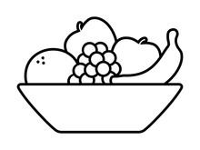 Bowl Of Fruit / Fruits With Or...