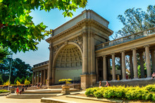 San Francisco, CA - September 21, 2015: Golden Gate Park In San Francisco, The Picture Shows The Bandshell Aka Spreckles Temple Of Music Nearby The  M. H. De Young Memorial Museum