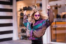 Fashion Woman Posing On The Street