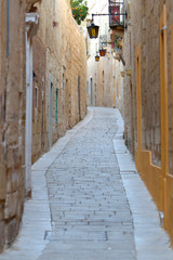 Stara, zabytkowa uliczka w miejscowości Mosta na Malcie