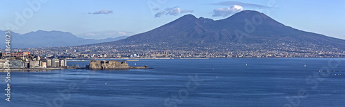 Spoed Foto op Canvas Napels Aerial view of Naples bay