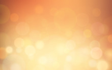 Abstract Bokeh And Lens Flare Pattern On Summer Orange Color Blurred Background (vector)