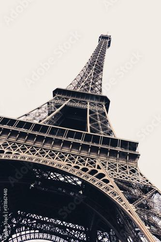 Eiffel tower in Paris, France - diagonal #131867440