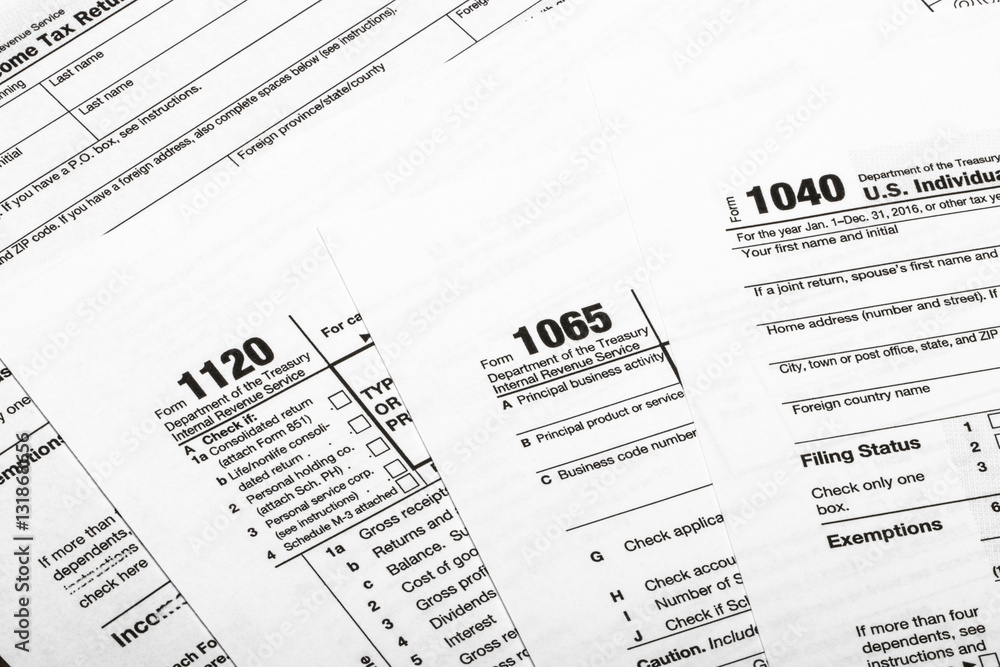 form 1065 and 1040  Photo & Art Print 13,13,13 US tax form / taxation ...