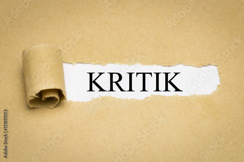 Fotografie, Obraz  Kritik