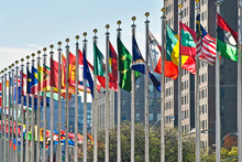 Flags Of All Nations Outside T...