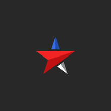 Star Logo Mockup, USA Patrioti...