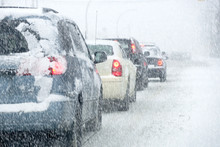 Traffic In A Snowstorm