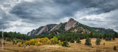 Flatiron Mountains in Boulder Colorado Canvas Print